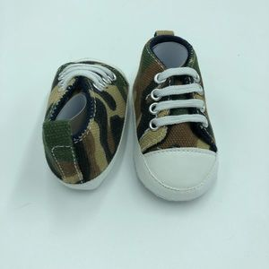 Infant Camo Sneakers size 0-3 months